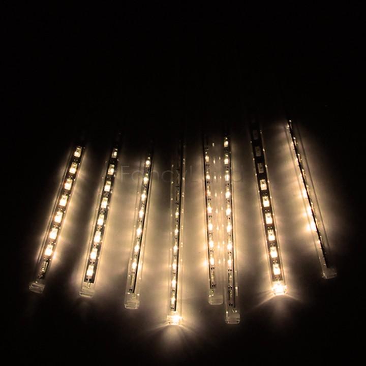 Hot New 30CM Shower Rain Meteor Tube LED String Light For Christmas Wedding Garden Tree Decoration Lights 100-240V/EU/US Plug 34(China (Mainland))