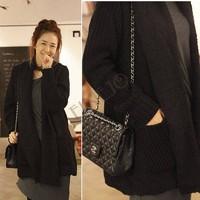 2014 Autumn Winter Woolen Coat Womens Overcoat Temperament Slim Trench femininos Wool & Blends Sweaters B11 SV009099