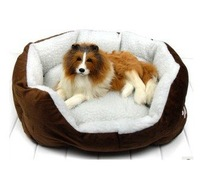 Pet Dog Nest Puppy Cat Soft Bed Fleece Warm House Kennel Plush Mat Five Color Easy To wash One Size
