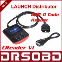 2014 100% original Launch Creader VI  OBDii Code reader,Color screen OBD2 Car Scan Tool Launch creader6