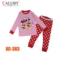 Girls Mickey & Minnie Clothing Set Kids Autumn -Summer Pajamas Sets New 2014 Wholesale Children Cartoon Pyjamas XC-383