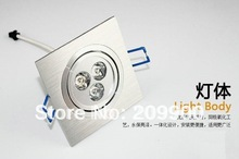 3W led downlight led ceiling lamp 300LM Square Shaped AC85~265V