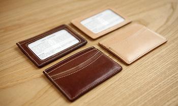 LAN  100% Genuine Leather credt card case bank card holder Slim card case
