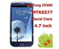 HK Freeshipping Feiteng S3 i9300 (N9300) N9300+ Smartphone Android 4.1.1 HD AMOLED multitouch screen MTK6577 Dual core 8.0MP