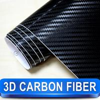 1.52*30m Black 3D Carbon Fiber Folie Vinyl High Quality Calendared PVC Car Decorative Wrapping Film Free Shipping