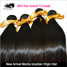 6A Unprocessed  Queen hair Products 3 pcs Lot Straight Brazilian Virgin Hair Extensions Wholesale Natural Color Tangle Free(China (Mainland))