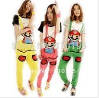 Overalls for women cute onepiece jumpsuit super mario leisure cotton pants