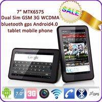 7 inch android4.0 3G WCDMA GSM 2 sim card slot Bluetooth GPS FM HDMI tablet pc 3g sim card slot