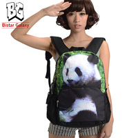 "the knapsack 17"" Panda Printing Backpack, Schoolbags Outdoor backpack for children iPad iPhone pocket, Free Shipping BBP102"