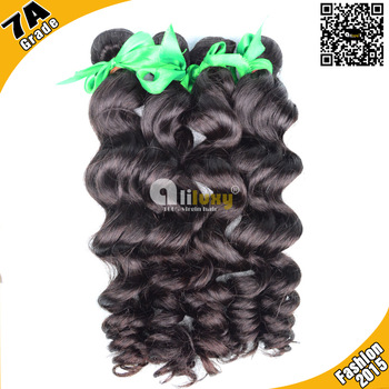 Luxy Brazilian virgin hair lose wave 3pcs/lot, 6A top grade human hair extension Free shiping , color 1b# , 12-30""