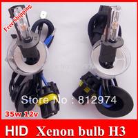 Free Shipping!!Xenon HID bulb H3 2pcs AC  3000k,4300k,5000k,6000k,8000k...30000k