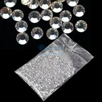 20000Pcs Clear Crystal Glitter Nail Art Beautiful Rhinestone Decoration 1.5mm Free Shipping