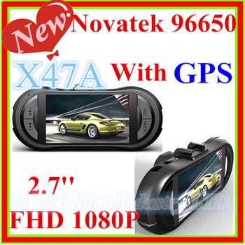 2013 New Samsoon Car DVR Camera(3H2-B)Novatek 96650 170 Degree Wide Angle+Car Recorder HD1080P+GPS logger+G-sensor X47A