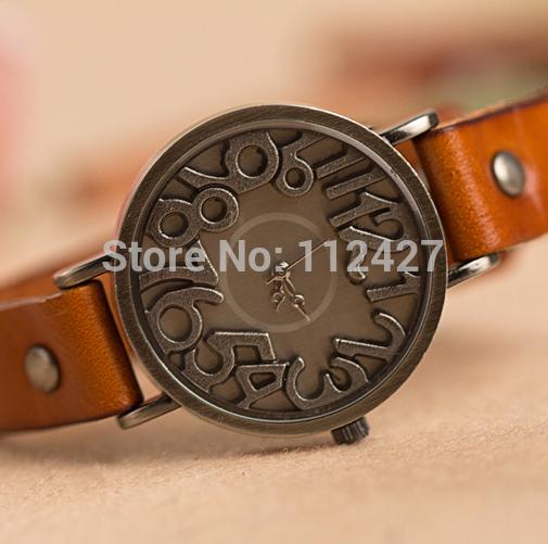 2014 new Casual watch Vintage design Solid digit quartz watch Women Men ladies Top quality dress watch EMSX009-1 Free shipping(China (Mainland))