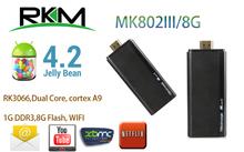 Rikomagic MK802 III Dual Core Mini Android 4.1 PC RK3066 1.6Ghz Cortex A9 1GB RAM 8G ROM HDMI [MK802-III](China (Mainland))