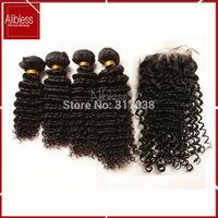 6A unprocessed Malaysian deep curly virgin hair,3pcs lot virgin human hair deep wave,1B 10-26inch malaysian curly hair extension