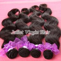 6A Unprocessed Virgin Malaysian Body Wave Hair 4pcs lot Mix Length 8''-30'',Natural color #1b,100% Virgin Hair No.MA60-02