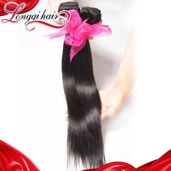 6A On Sale Unprocessed Human Hair Straight Brazilian Hair Weaves,3pcs Brazilian Virgin Hair Natural Color Free Shipping LQBST003