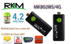 Rikomagic MK802 IIIS Mini PC,Mobile Remote Control Android Set top box RK3066Cortex A9 1GB RAM 4G ROM HDMI TF Card [IIIS/4G]