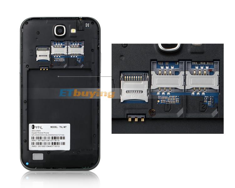 THL W7s Quad core smartphone 5.7 Inch HD IPS1280x720 pixels mtk6589 1.2GHz 1GB RAM 8.0MP Camera