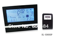 Wireless multifunction weather station digital alarm clock with remote sensor SL-53035P