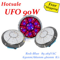 Freeshipping  90W green house hydro led ufo 48pcs*3W Red=630nm Blue,=460nm,R/B=8/1,could be customed