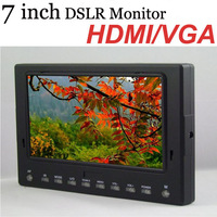 "7"" HD LCD On camera field monitor dslr monitor  with HDMI VGA input 1024*600"