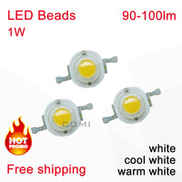 Free shipping Epileds 1W High Power LED beads diode Lamp 90-100lm led diodes Cold Warm White for 1W 2w 3W 5W 10W LED Spot Light#