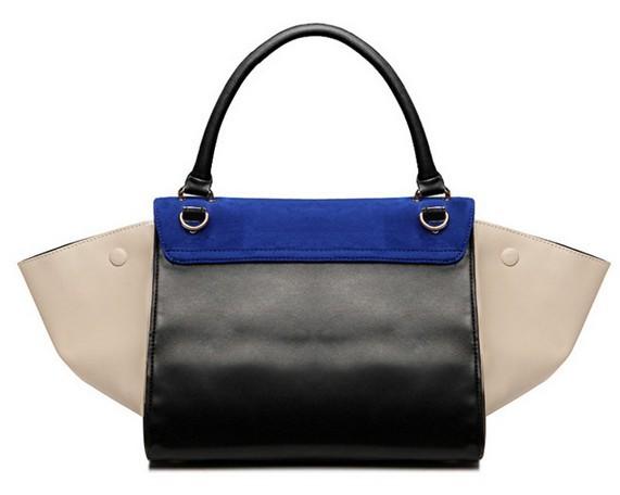 2014 New Famous Brand Designer Of Fashion Big Ear Smiley Smile Suede PU Leather Shoulder Tote Bag Handbag Bags For Women Lady*