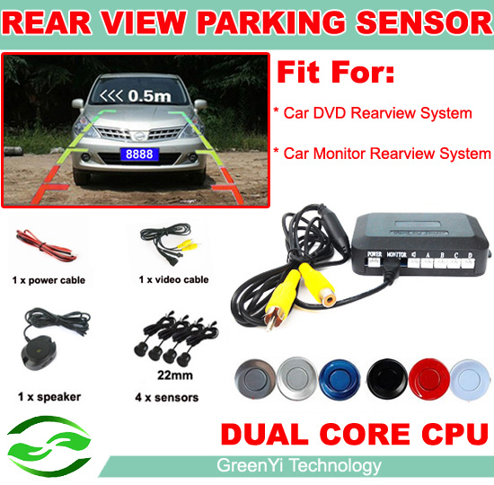 2013 Dual Core Car Video Parking Sensor Reverse Backup Radar System, Auto Reversing Detector, Digital Display and Step-up Alarm(China (Mainland))