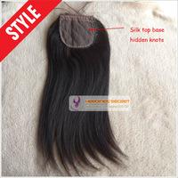 Peruvian straight silk base closure free part unprocessed virgin hair,silk base closure natural color DHL free shipping