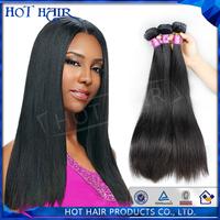 6A unprocessed malaysian hair human hair weave straight malaysian  virgin hair straight 3pcs/lot