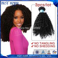 AAAAAA grade cuticle intact mongolian kinky curly virgin hair mixed length 3pcs/lot