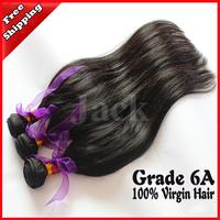 Queen Hair Malaysian Virgin Hair Straight 4Pcs/Lot 12-30inch 1B Natural Color Human Hair Extensions Can Be Dye