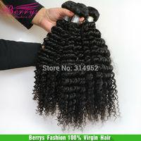 "Brazilian virgin hair Kinky deep curly human hair super soft , 3pcs/lot 8""-28"" full cuticle hair Extension hot selling perruque"