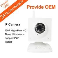 Mega Pixel 720P HD P2P TF Card Security And Surveillance IP Camera Phone Viewing TF Card Storage 12 IR LEDs KaiCong Sip1203