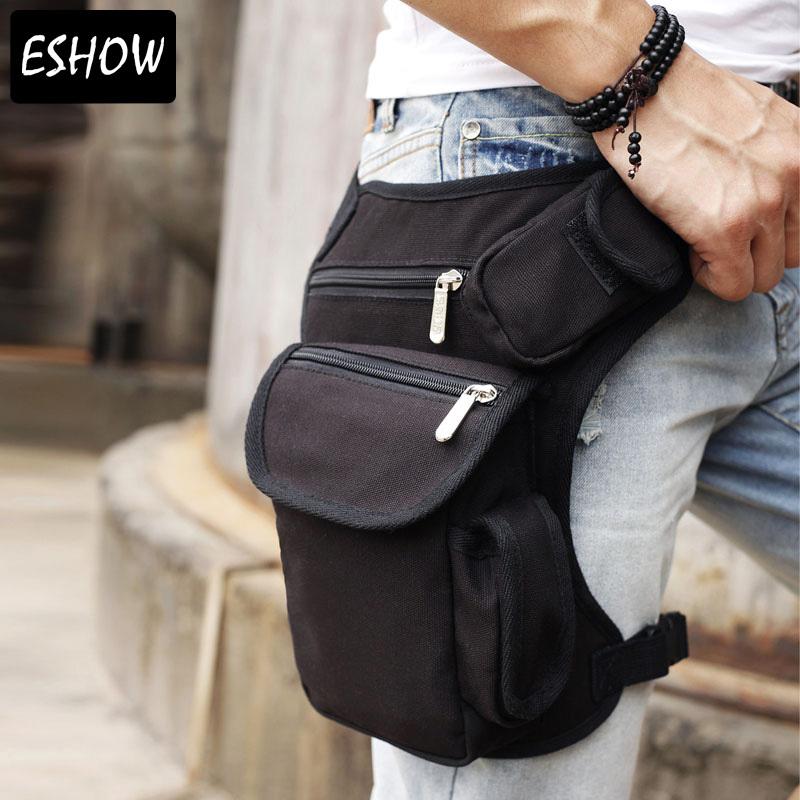 Eshow Men belt bag Canvas leg bags waist pack bag fanny pack running belt men travel bicycle bags BFT000201()