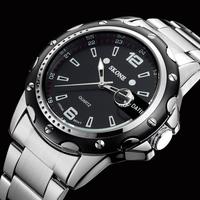 men wristwatch quartz watch full stainless steel watch mans fashion casual watch Men's Dress relogio masculino 7147