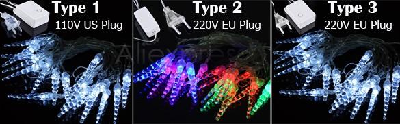 5M 20 LED Icicle String Lights New Year Christmas Xmas Wedding Party Led Fairy Lights 35(China (Mainland))
