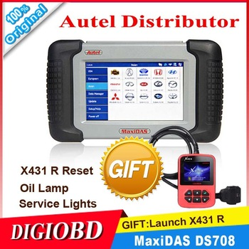 [Authorized Distributor] 2013 Auto Scanner Autel MaxiDAS DS708 update via internet full package 100% original DS 708 Code Reader