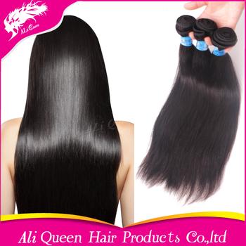 Ali queen hair products peruvian virgin hair straight 3Pcs/lot unprocessed virgin human hair extension free shipping