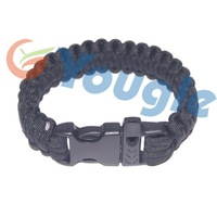 FREE SHIPPING NEW Plastic Whistle Buckle 550 Mil Spec III Paracord Parachute Cord Lanyard Military Survival Bracelet