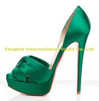 Green pumps sandals party dress shoes