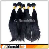 Unprocessed Straight Virgin Brazilian hair bundles Human hair weave bundles 3pcs lot free shipping