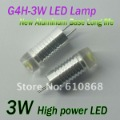 FREE SHIPPING 3W G4 LED lamp bulb corn DC 12V,G4H-3W,200LM, New Aluminum Body, High Quality 3W LED chip. Long life,5pcs/Lot