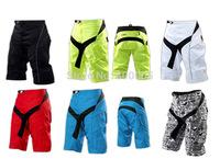 Men MTB Shorts Oxford Moto Shorts Padded Bicycle Cycling Bike Shorts BMX Downhill Motorcross Shorts 5Colors Size:28-46