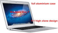 Aluminium ultrabook laptop computer Intel dual core webcam WIFI W/option 8GB ram & 128GB SSD