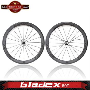 BladeX PRO ROAD CARBON WHEELSET 450T - 50mm Tubular Carbon Wheels; Ceramic Bearings; Basalt Braking Surface; Bicycle Wheel