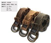 Belt For Men Belts Brand  D-ring Canvas Thick Belt  100% Cotton Worn out side  Washed Best Quality Fashion Length122cm