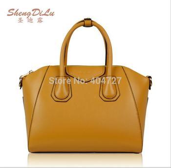 Fashion Hot European US Stylish Genuine Leather Women's Shoulder Bag  Tote Messenger Bags  Free Shipping